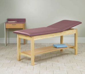 H-Brace Treatment Table Rising Top w/Shelf 30x72x31