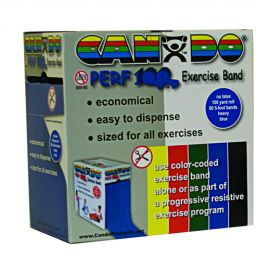 Cando No-Latex Exercise Band Yellow X-Light 100yd Disp Box