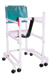 Walker PVC w/Ht Adj Arms & & Seat-Tall-w/Outriggers