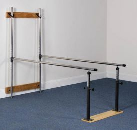 Wall Mounted Folding Parallel Bars w/7' Handrails