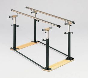 Folding Parallel Bars 7' w/Wood Base