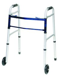 Folding Walker w/5  Wheels Adult--(ProBasic)