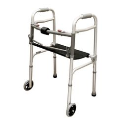 Walker w/Seat Adult  2-Button & 5  Wheels  Roscoe