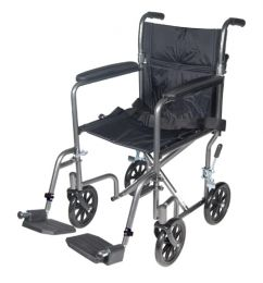 Wheelchair Transport 17  Silver Vein Finish