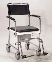 Wheelchair - Transport With Comm Open  Drop-Arm  Assembled