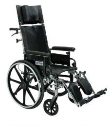 Viper Plus Reclining 12 Inch Wheelchair with Detachable Flip-Back and Desk Arms
