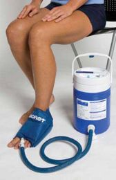 Aircast Cryo/ Cuff System- Large Foot & Cooler