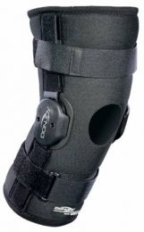 Hinged Knee Support Sleeve w/ Open Popliteal & Horseshoe  XS
