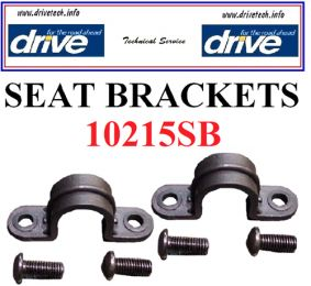 Seat Brackets (3) and Hardware for 11053A/B Rollators