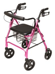 Rollator  Walkabout ConTour Deluxe  4 Wheel  Pink