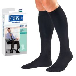 Jobst Men's Dress Socks 8-15 mmHg Navy Large