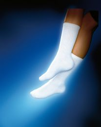 Sensifoot 8 -15 Crew Diabetic Socks Medium White