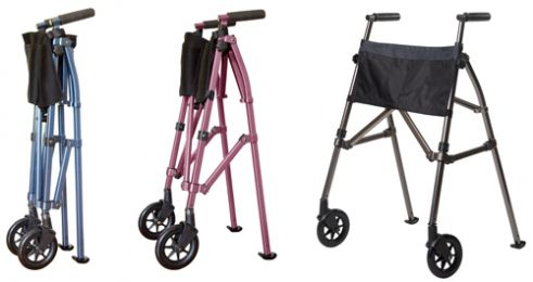 EZ Fold-N-Go Walker Regal Rose