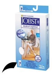 Jobst Opaque Thigh-Hi 15-20 Black Large Open Toe