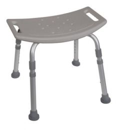 Shower Safety Bench W/O Back Tool-Free Assembly  Grey