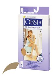Jobst Ultrasheer 30-40mmHg Knee Hi XL  (pr) Honey