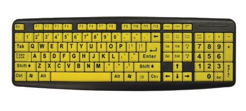Bright Keys Low Vision Keyboard