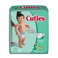 Cuties CR5001 Size 5 Baby Diapers 108/Case