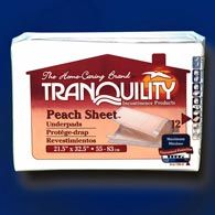 Tranquility 2074 Peach Sheet Underpads 12/bag